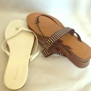 Lane Bryant Sandals. Lot of 2